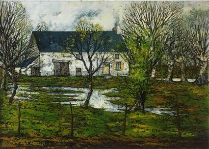 JAMET Pierre-Louis (1925- )  Les Baudus,...