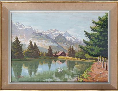 MURIS George (c.1914-1988)  Chalet suisse...