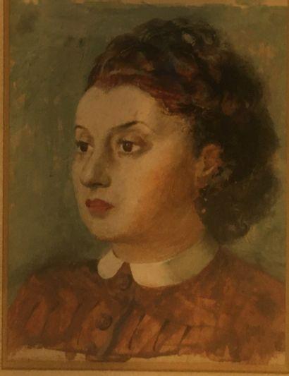 HOFER André (né en 1963)  Portrait de femme,...