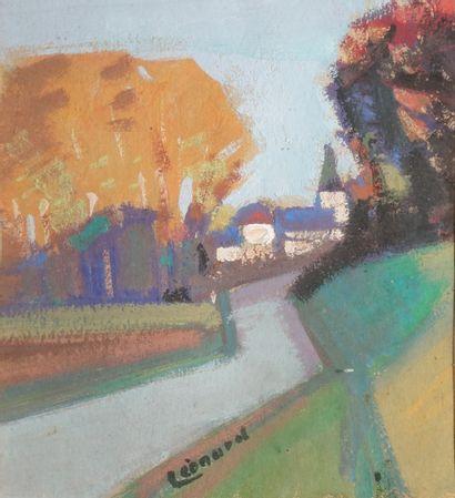 LÉONARD Maurice, 1899-1971,  Route et village,...