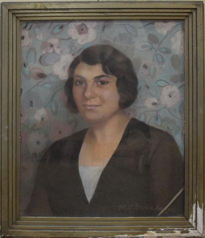 RONSIN-FRANCOIS Marie (XIX-XX)  Portrait...