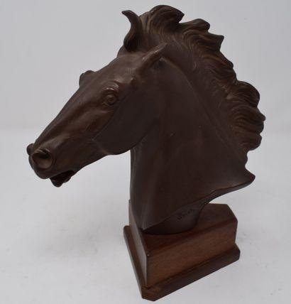 OEHME Erich (1898-1970) d'ap.  Tête de cheval...