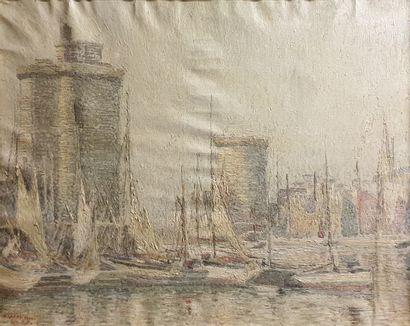 LAVAL Fernand, 1886-1966,  Les tours du port...