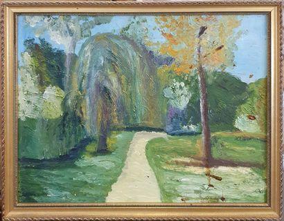 Ensemble de 4 tableaux    DUSSEAUX Gilberte,  Eze village perché près de Monoaco...