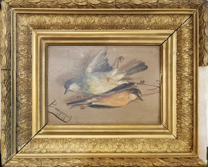 BOURGUIGNON Maurice Jean (1877-1925)  Oiseaux...