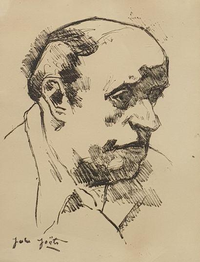 JOËTS Jules, 1884-1959,  Portrait d'homme,...