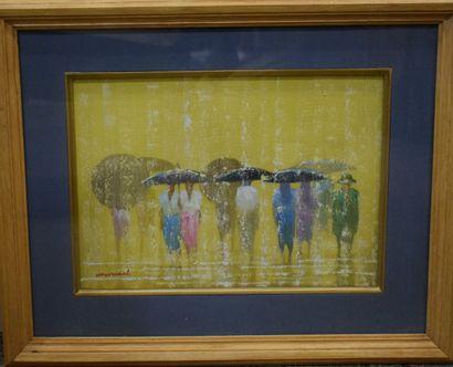 ECOLE MODERNE [YAY CHAN? ]  Les parapluies,...