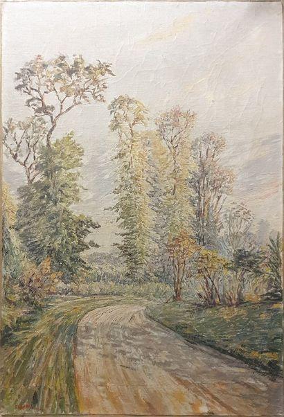 LAVAL Fernand, 1886-1966,  Chemin tournant,...