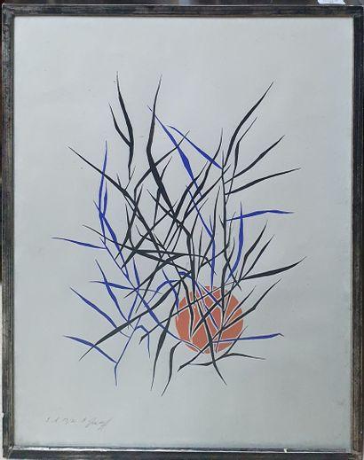GREKOFF Elie, 1914-1985,  Soleil et branchages,...