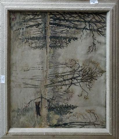 LAVAL Fernand, 1886-1966,  Étangs aux arbres,...
