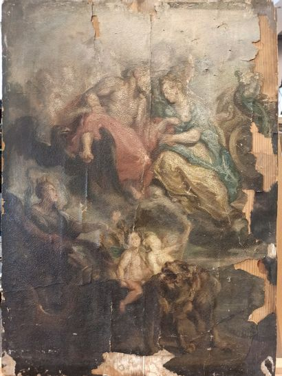 RUBENS Pierre-Paul, D'après,  Entrevue du roi et de Marie de Médicis à Lyon le 9...