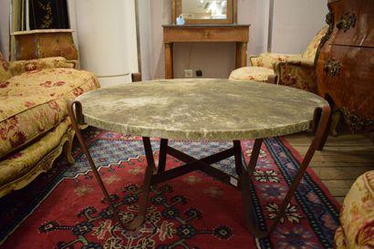 table basse design marbre et métal  H.: 44...