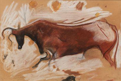 RIGHETTI Édouard, 1924-2001,  Taureau de...