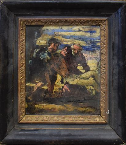 LEYDET Louis (1873-1944)  Descente de croix...