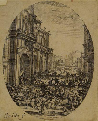Jacques CALLOT (1592 - 1635)  Le Massacre des Innocents.  Eau-forte. Belle épreuve...