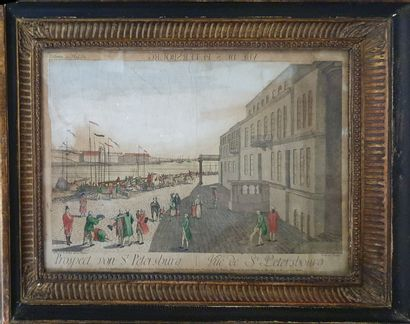 Engraving St petersburg  Framed