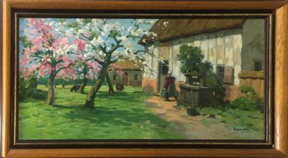 ESCHBACH Paul, 1881-1961,  Arbres en fleurs...