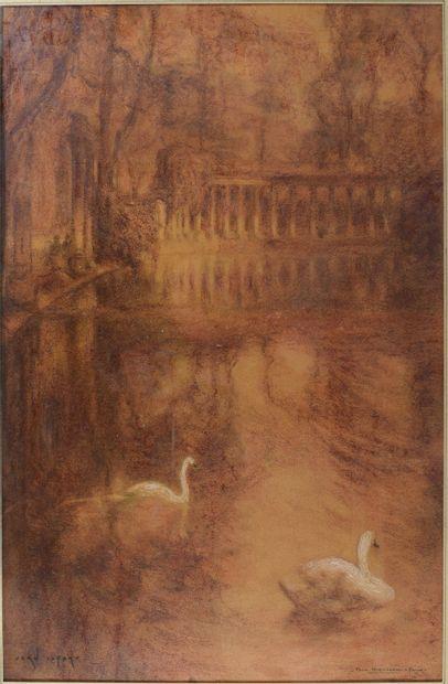 LEFORT Jean (né en 1923)  Parc Monceau, Paris...
