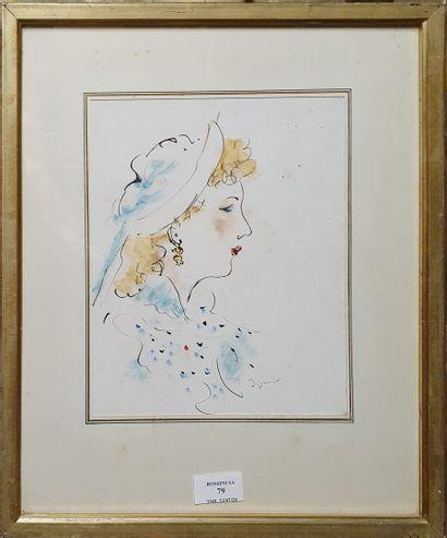 DIGNIMONT André, 1891-1965,  Femme blonde...
