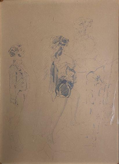 GRÉVIN Alfred, 1827-1892 attribué à  Femmes...