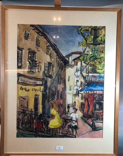 LEBRET-CUNEO Monique (1920 -)  Vieux Nice...