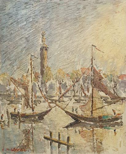 LAVAL Fernand, 1886-1966,  Le port de Veere,...