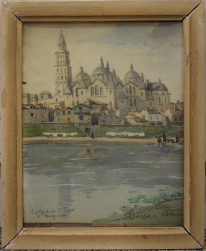 Robert DESSALES-QUENTIN (1885-1958)  Vue de la Cathédrale Saint Front à Périgueux...