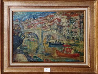 SOURDILLON Berthe (1895-1976)  Ondaroa (Espagne)...