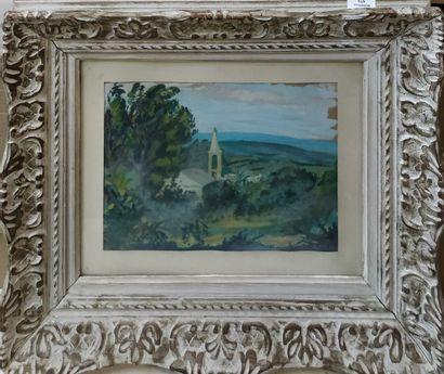 MALCLES Jean Denis, 1912-2002  Paysage au...