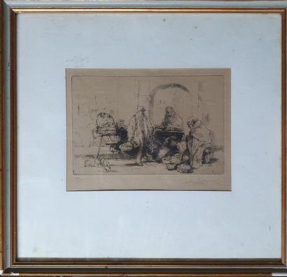 BROUET Auguste, 1872-1941,  Marchands ambulants,...