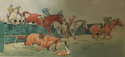 LE RALLIC Étienne (1891-1968)  La course...