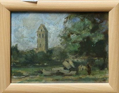 DERTELLE André (XX)  L'église de Luzarches,...