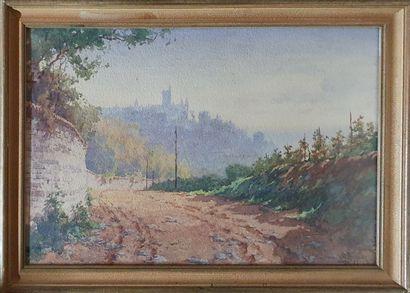 BARBIER Antoine, 1859-1948,  Chemin le long...