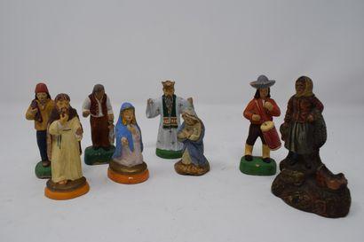 Santons  Lot divers de santons    accide...