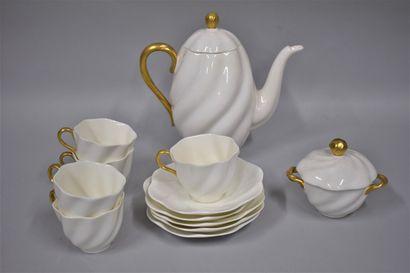 COALPORT ENGLAND  Service à café en porcelaine...