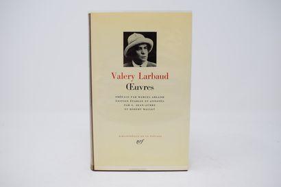 BIBLIOTHEQUE DE LA PLEIADE  LARBAUD Valery...