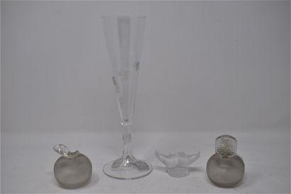 CRISTAL LALIQUE  Vase « Vigne ». Épreuve...