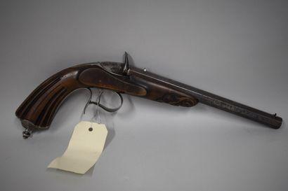 Pistolet de salon Flobert, calibre 5,5 mm, bien marqué sur le canon « Flobert inventeur...