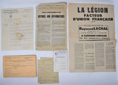 Important lot de documents sur la Légion...