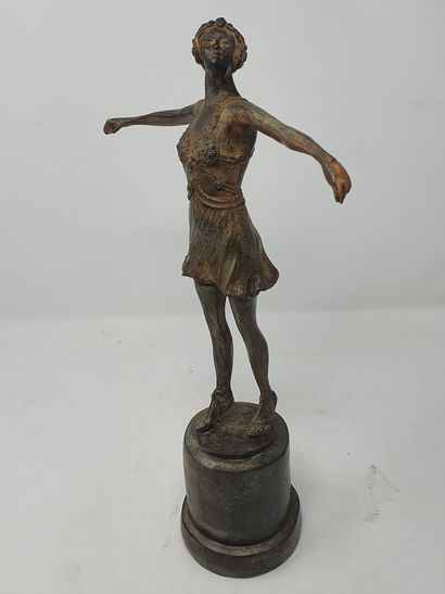 CHENET Pierre (XXe siècle)  Ballerine  Bronze...