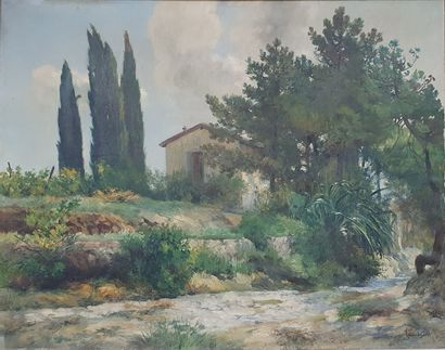 LAURENT GSELL Lucien (1860-1944)  Paysage...