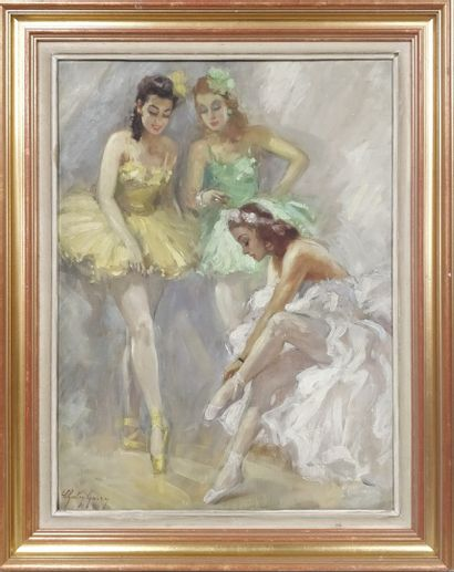 GARY Charley (1891-1973)  Trois ballerines,...