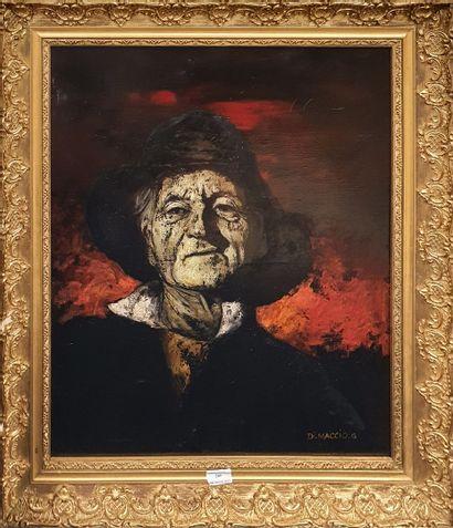 DI MACCIO Gérard, né en 1938,  Homme au chapeau,...