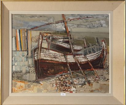 GROSPERRIN Claude (1936-1977)  Barques à...