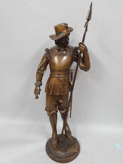 ANONYME  Hallebardier  Bronze à patine médaile...