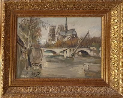 MADELAIN Gustave, 1867-1944,  La Seine et...