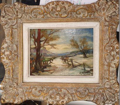 WOLFF José (1884-1964)  Paysage  Huile sur...