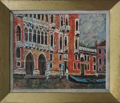 CLAISSE Robert Henri (né en 1920)  Gondole...