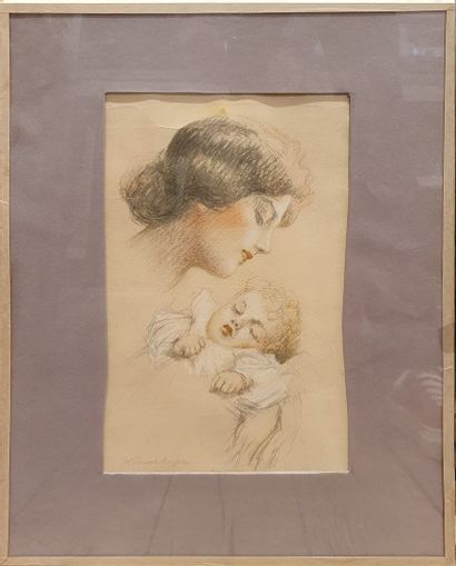 VINCENT ANGLADE Henri (1876-1956)  Maternité...