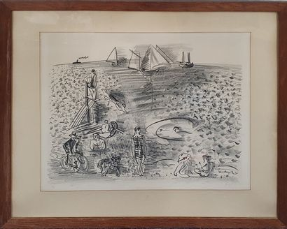 DUFY Raoul (1877-1953)  Bord de mer,  Lithographie...